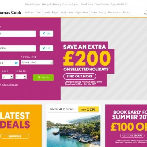 Thomas cook discount coupons