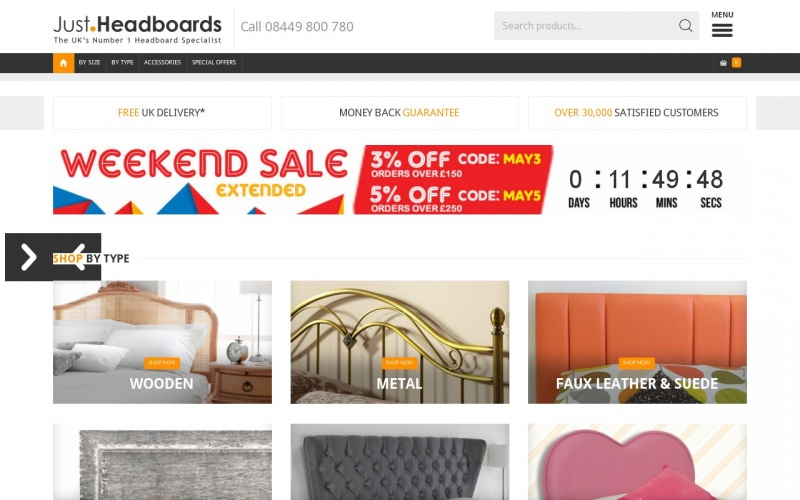 Just Headboards Coupon Codes Just Headboards are the UK specialists in Bed Headboards. Find a huge selection of affordable headboards in sizes including Single, Double & King Sizes.